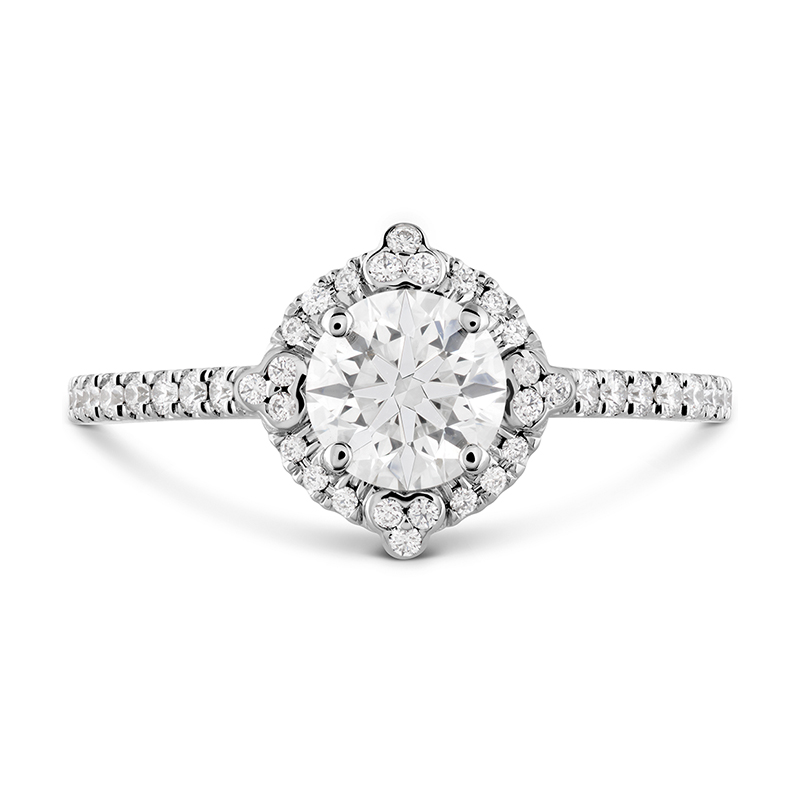 COMPASS HALO ENGAGEMENT RING