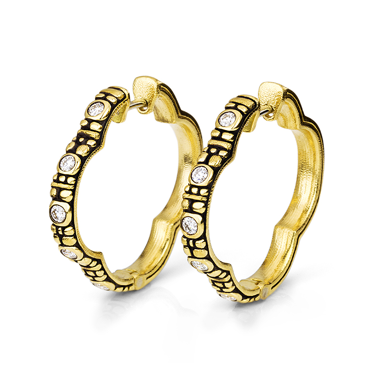 Earrings_Alex Sepkus_Quatrefoil Huggies_E223D